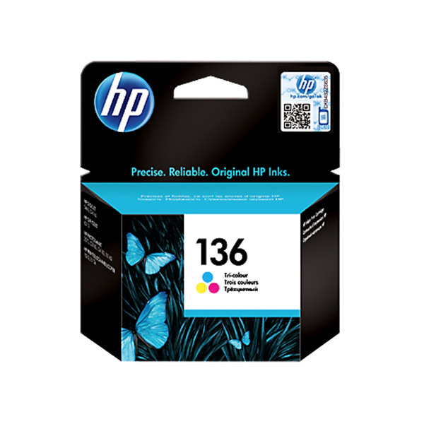 HP Ink 136 Tri-color Ink Cartridge  (C9361HE)