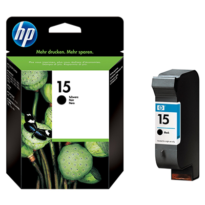 HP Ink 15 Black Ink Cartridge (C6615DE)