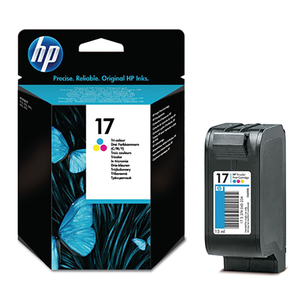 HP Ink 17 Tri-color Ink Cartridge  (C6625A)