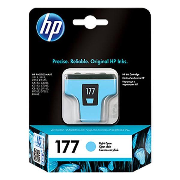HP Ink 177 Light Cyan Ink Cartridge (C8774HE)