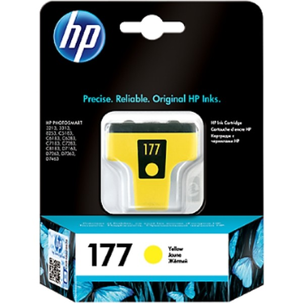 HP Ink 177 Yellow Ink Cartridge (C8773HE)