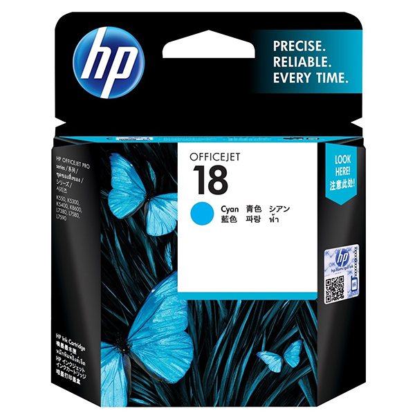 HP Ink 18 Cyan Original Ink Cartridge (C4937A)