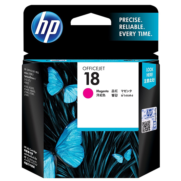 HP Ink 18 Magenta Original Ink Cartridge (C4938A)