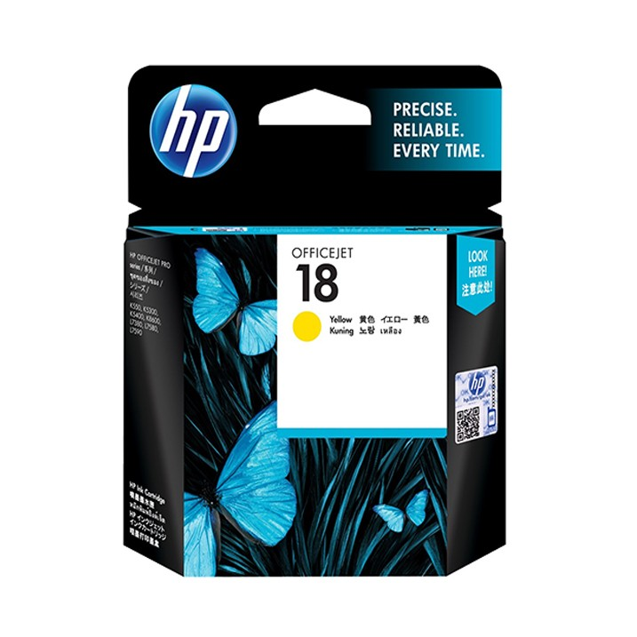 HP Ink 18 Yellow Original Ink Cartridge (C4939A)