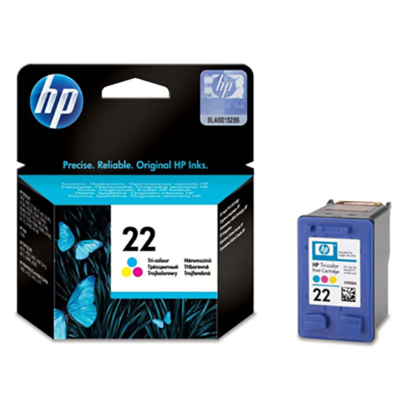 HP Ink 22 Tri-color Ink Cartridge (C9352AE)