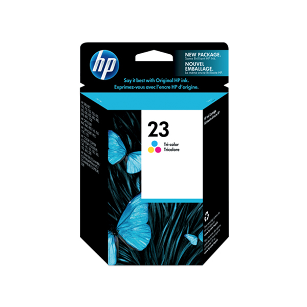 HP Ink 23 Large Tri-color Original Ink Cartridge  (C1823D)
