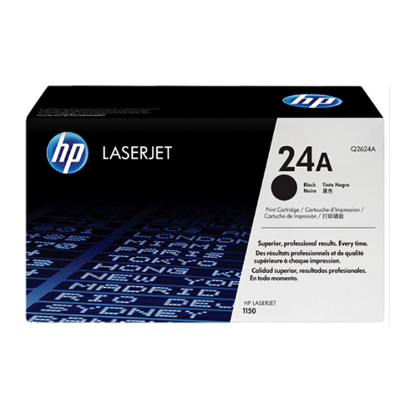 HP 24A Dual Pack Black Original Laserjet Toner Cartridges (Q2624A)