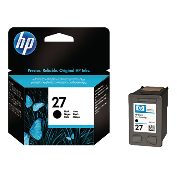 HP Ink 27 Black Ink Cartridge (C8727AE)