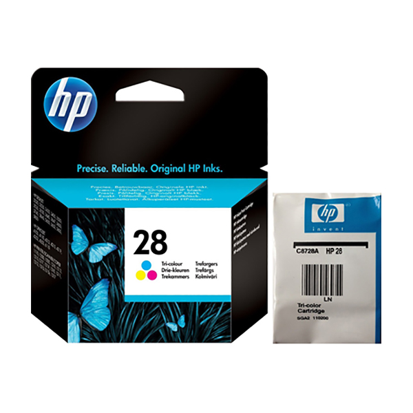 HP Ink 28 Tri-color Ink Cartridge (C8728AE)