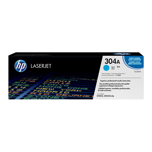 HP 304A (CC531A) Laserjet Toner Cartridge - Cyan