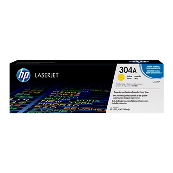 HP 304A (CC532A) Laserjet Toner Cartridge - Yellow