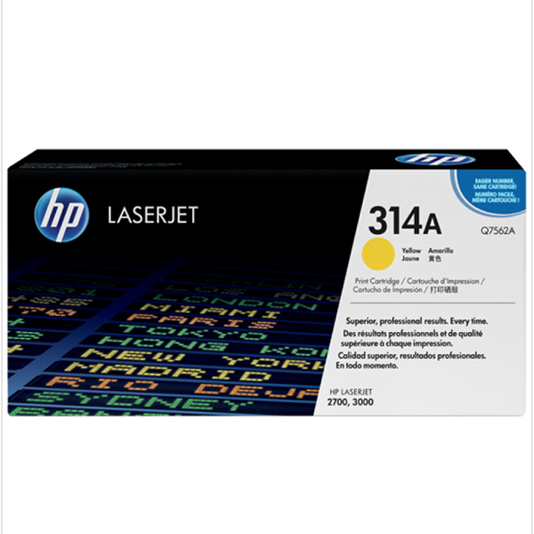 HP 314A Yellow Print Cartridge (Q7562A)