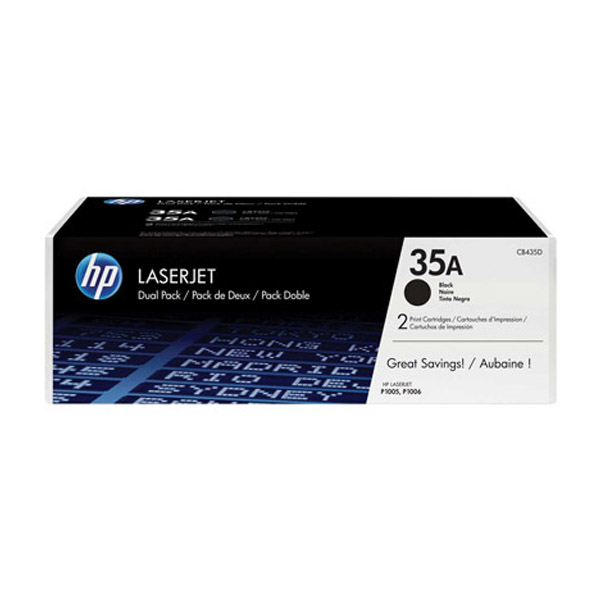 HP 35A Dual Pack Black Original Laserjet Toner Cartridges (CB435AD)