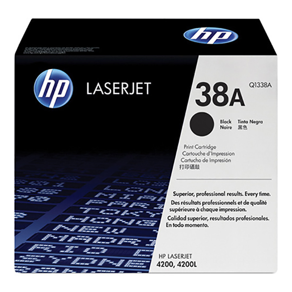 HP 38A Black Toner (Q1338A)