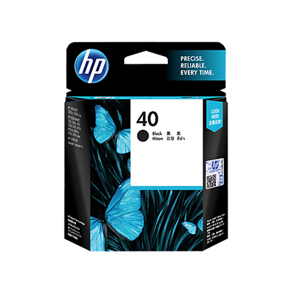 HP Ink 40 Black Original Ink Cartridge (51640AE)