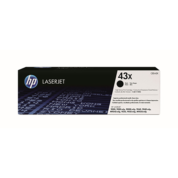 HP 43X Black Toner Cartridge (C8543X)