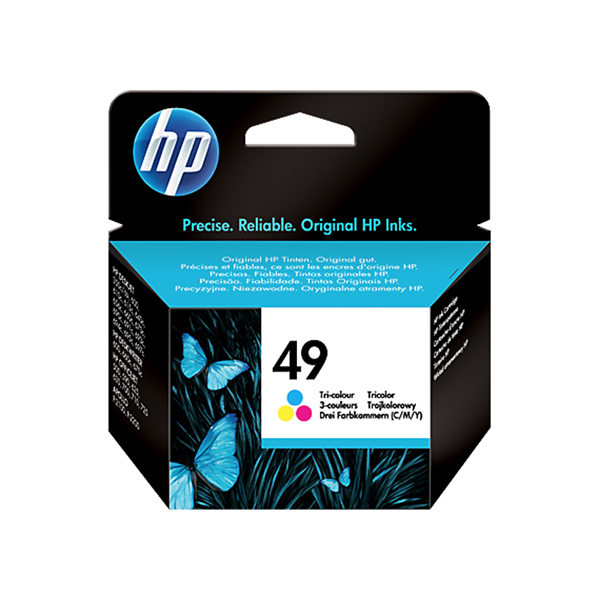 HP Ink 49 Tri-color Original  Ink Cartridge (51649A)