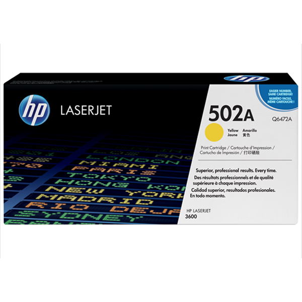 HP 502A Yellow Original Laserjet Toner Cartridge(Q6472A)