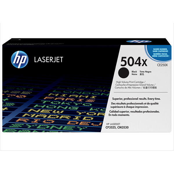 HP 504X High Yield Black Original Laserjet Toner Cartridge (CE250X)