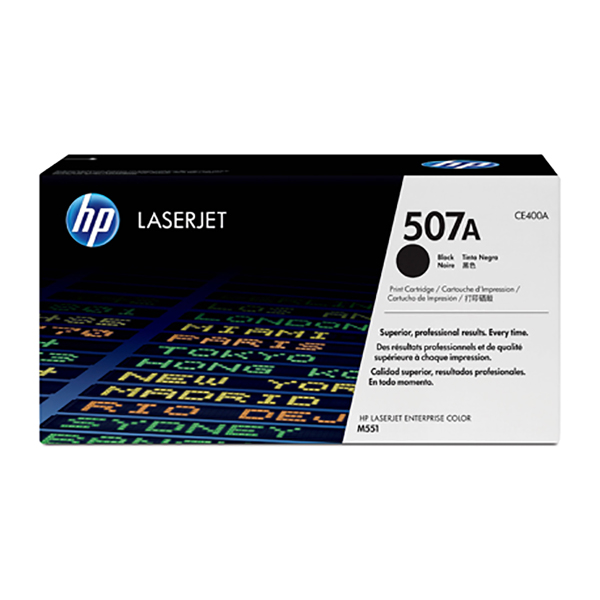 HP 507A Black Toner Cartridge (CE400A)