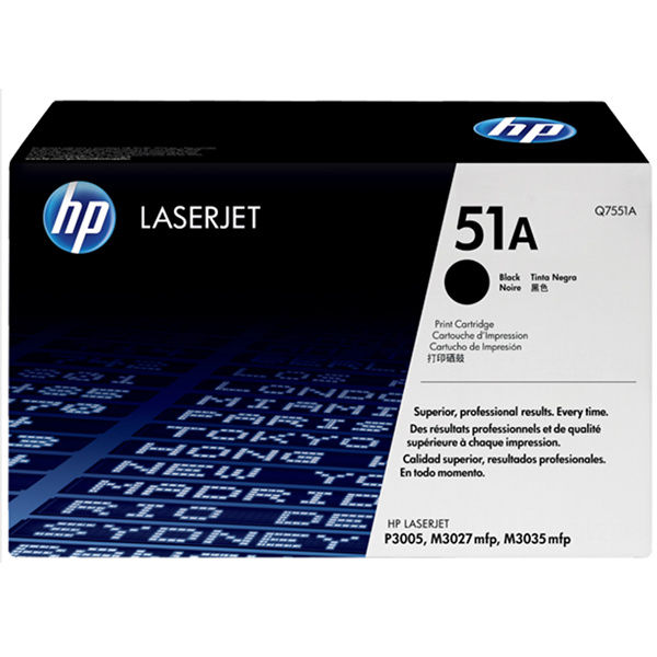 HP 51A Black Original Laserjet Toner Cartridge (Q7551A)