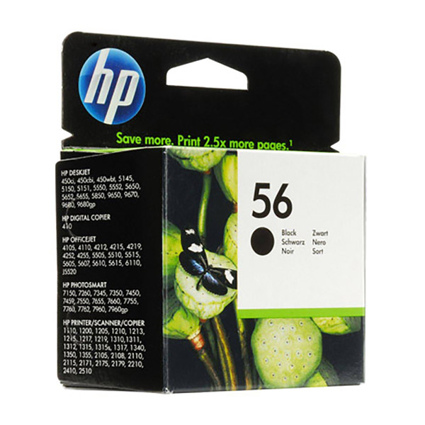 HP Ink 56 Black Original Ink Cartridge (C6656AE)
