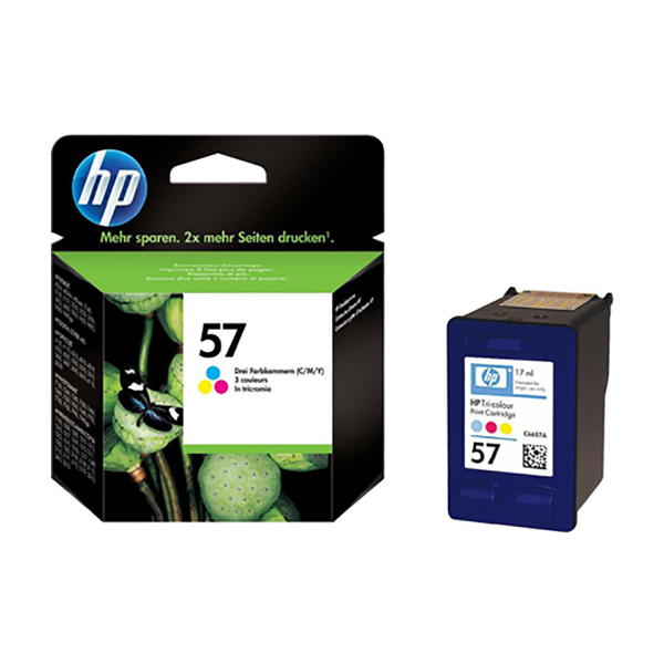 HP Ink57 Tri-color Ink Cartridge  (C6657AE)