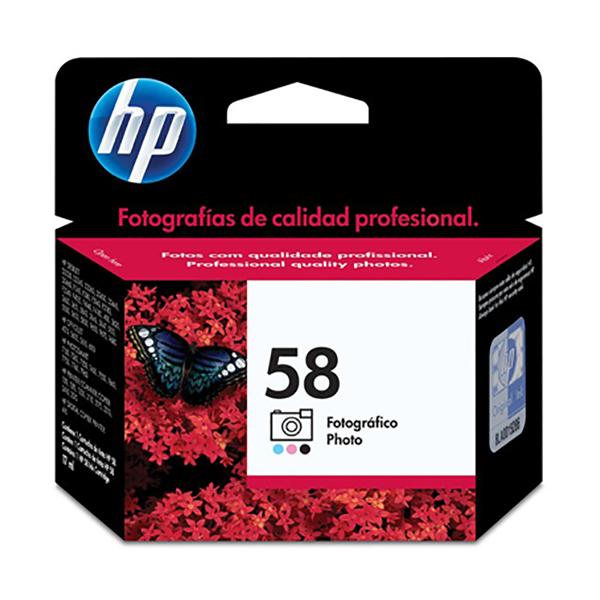HP Ink 58 Tri-color Ink Cartridge  (C6658AE)