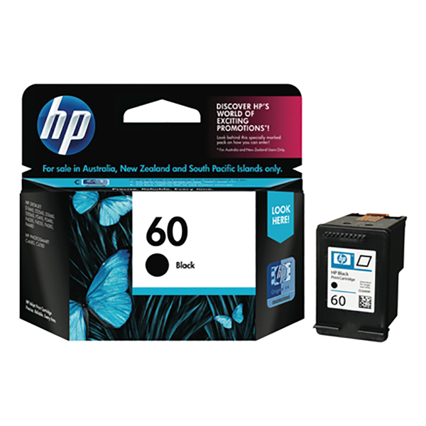 HP Ink 60 Black Ink Cartridge (CC640WA)