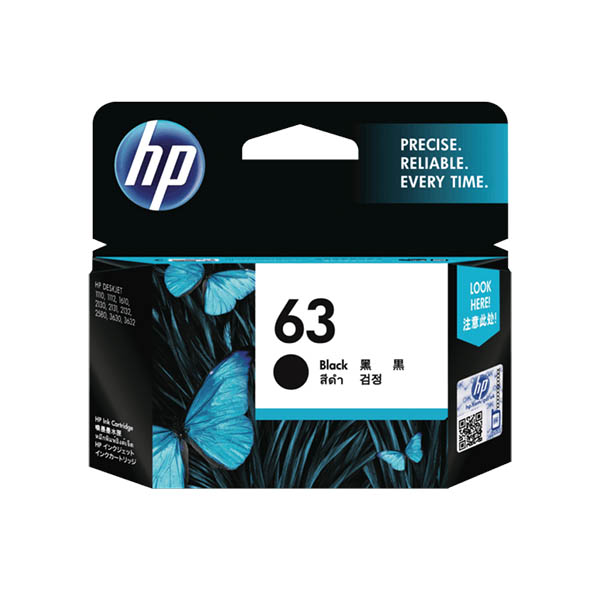 HP Ink 63 Black (F6U62AA)