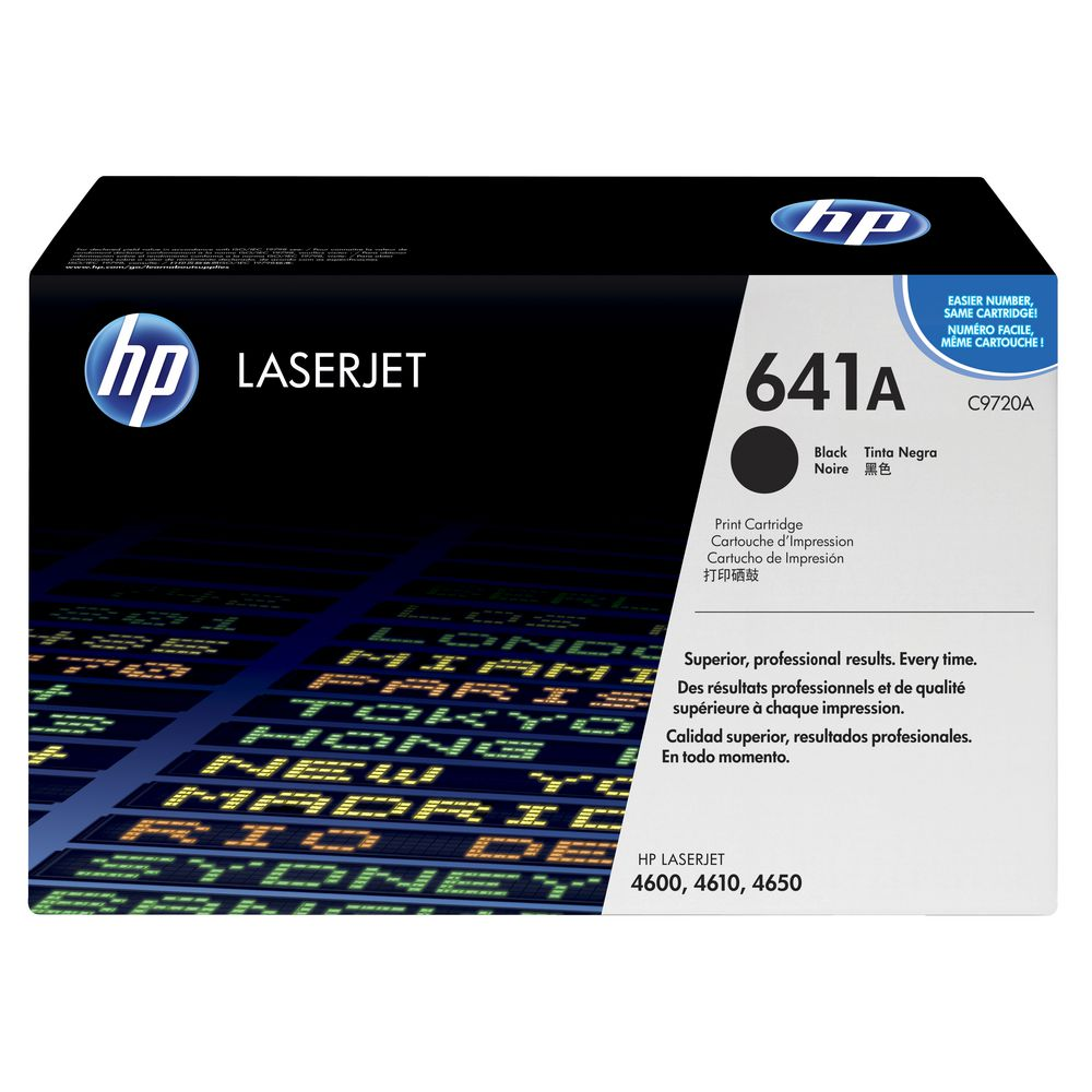 HP 641A Black Print Cartridge (C9720A)