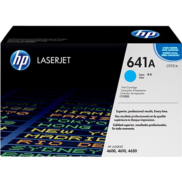 HP 641A Cyan Print Cartridge (C9721A)
