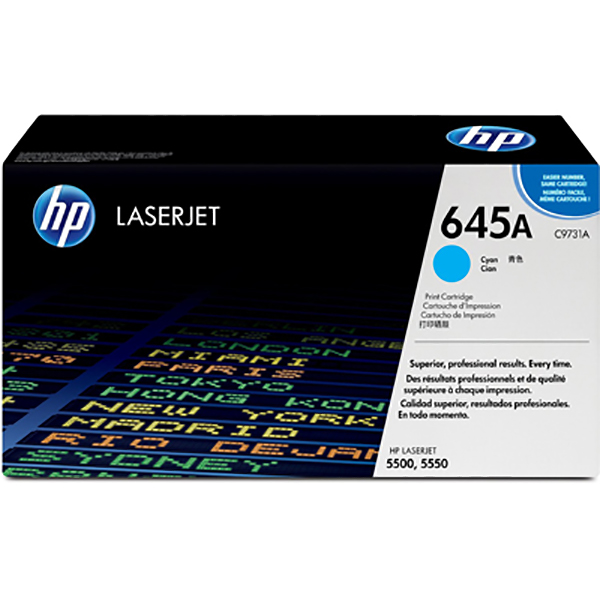 HP 645A Cyan Original Laserjet Toner Cartridge (C9731A)