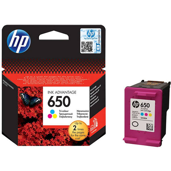 HP Ink Cart 650 CZ102 (Tri-color)