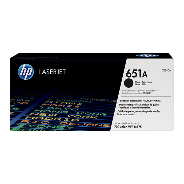 HP 651A (CE340A) Original Laserjet Toner Cartridge - Black