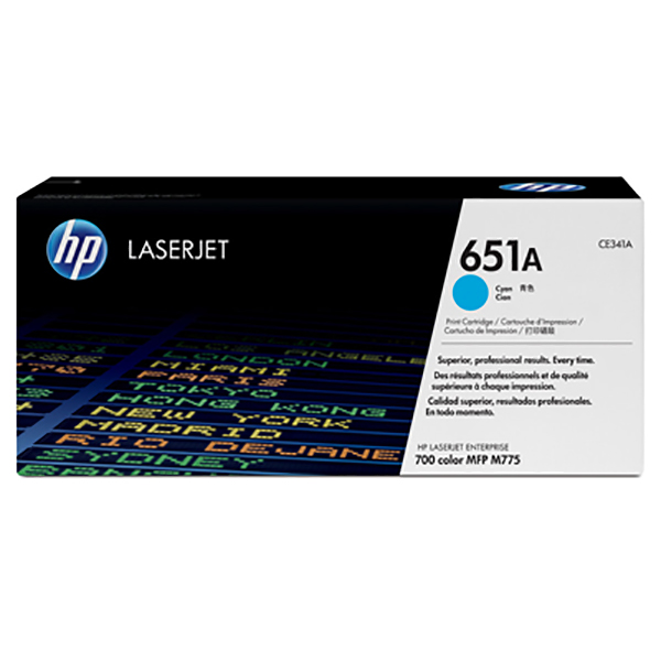 HP 651A (CE341A) Original Laserjet Toner Cartridge - Cyan
