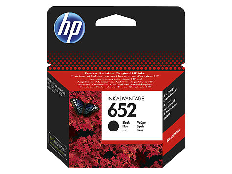 HP Ink Cart 652  (Black)