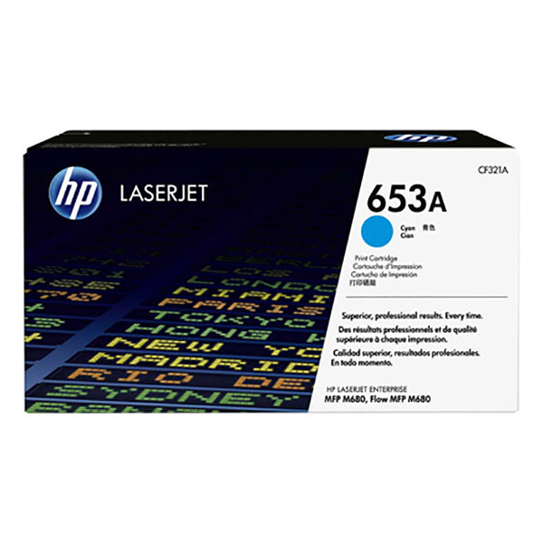 HP 653A Cyan Original Laserjet Toner Cartridge (CF321A)