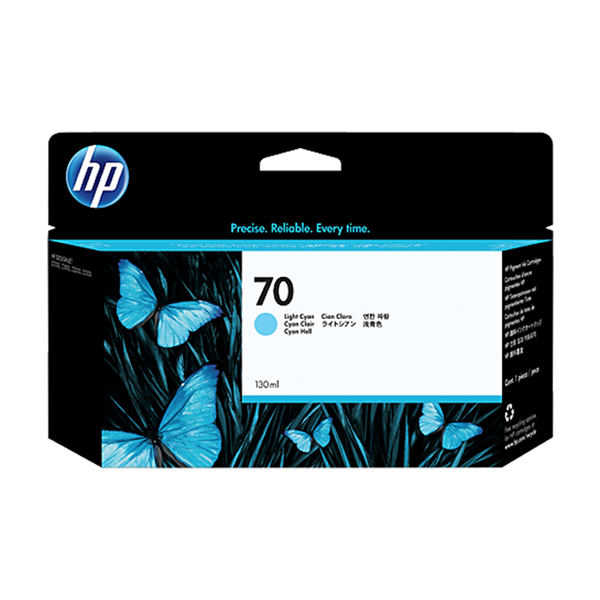 HP 70 Light Cyan Ink Cartridge 130ML (C9390A)