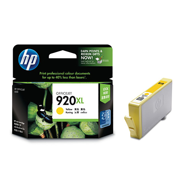 HP Ink 920 XL CD973A (Yellow)