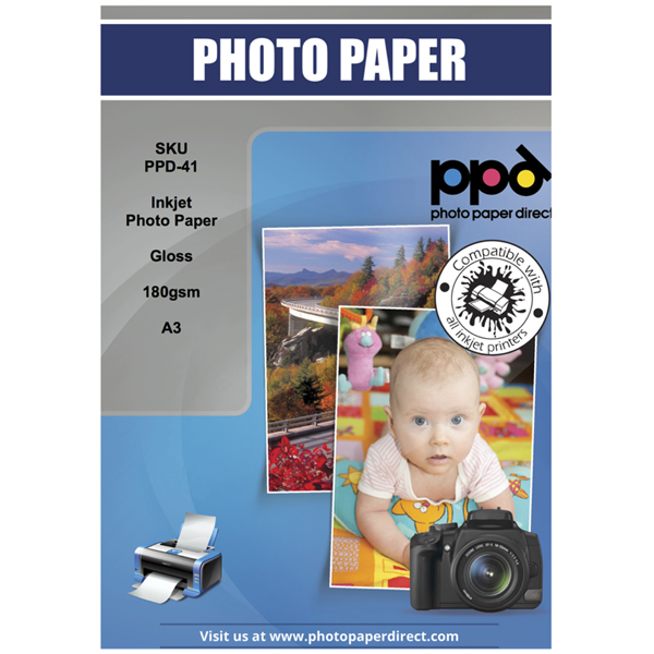FIS Ink Jet Glossy Paper A3 180g (pkt/50pc)