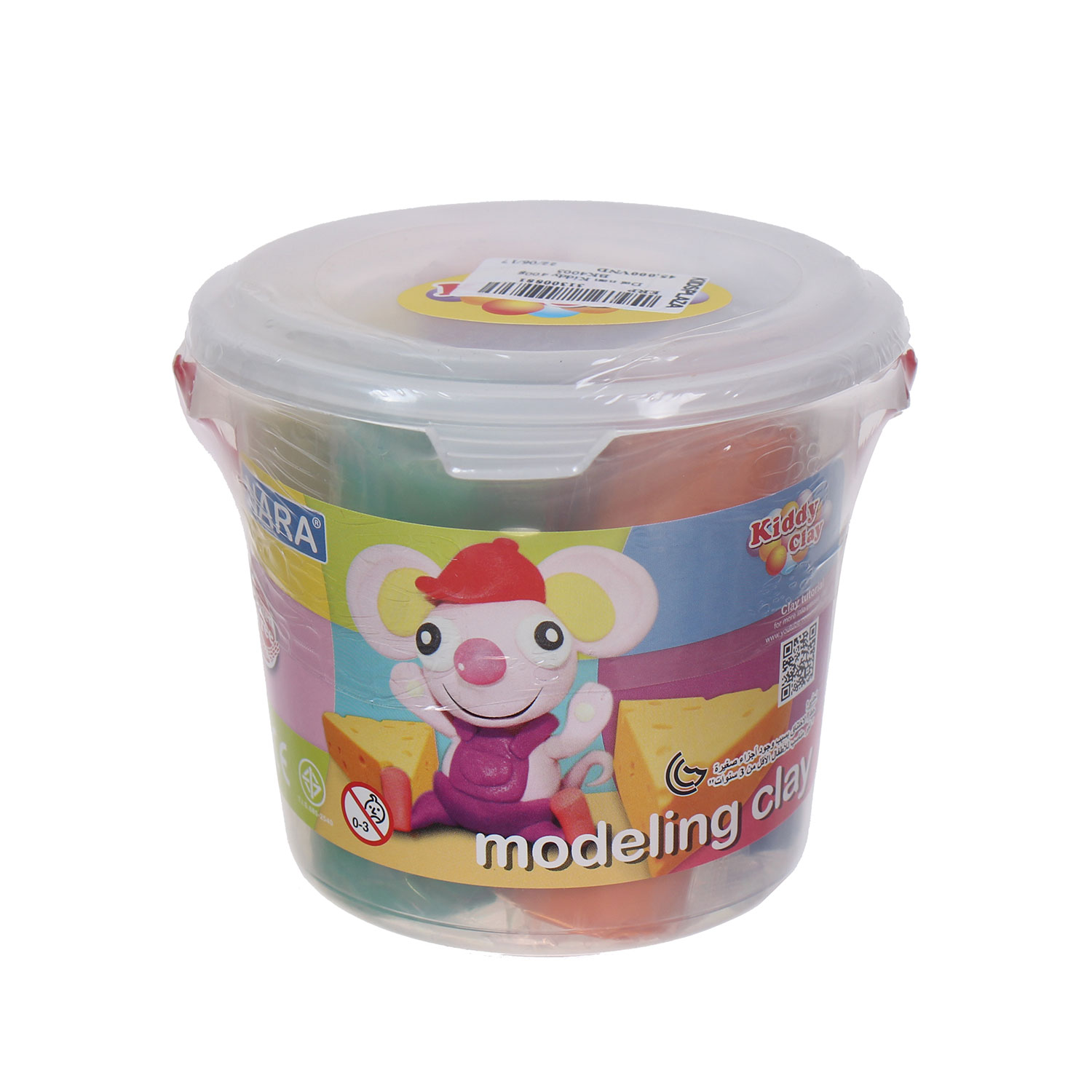 Kiddy Clay Modelling Clay Set of 5 Colors in Bucket