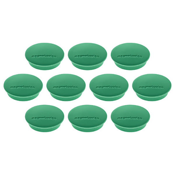 Magnetoplan Magnetic Discofix Junior - Green (pkt/10pcs)