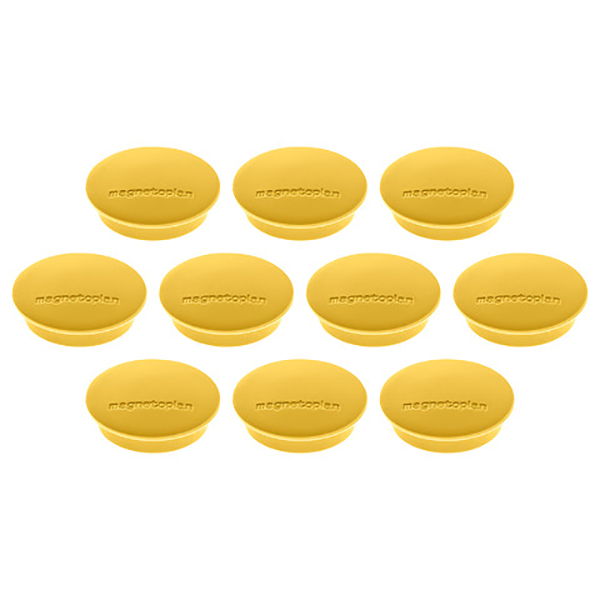 Magnetoplan Magnetic Discofix Junior - Yellow (pkt/10pcs)