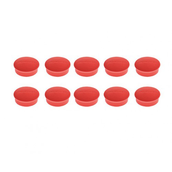 Magnetoplan Magnetic Discofix Mini - Red (pkt/10pcs)