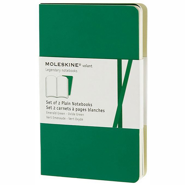 Moleskine Volant Plain Large Notebook - Green (ME-QP723K12)
