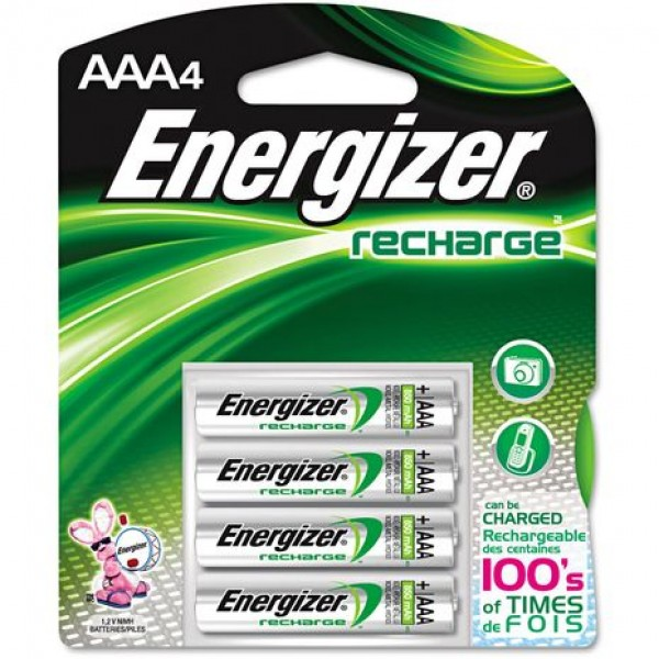 Energizer NH12URP4 NI-MH 700MAH AAA Universal Recharge Battery (pkt/4pc)