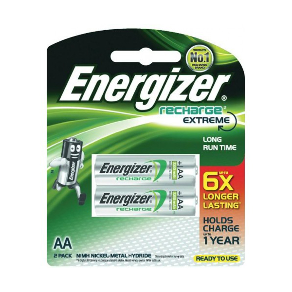 Energizer Extreme NH15ERP2 NiMH AA Recharge Battery (pkt/2pc)