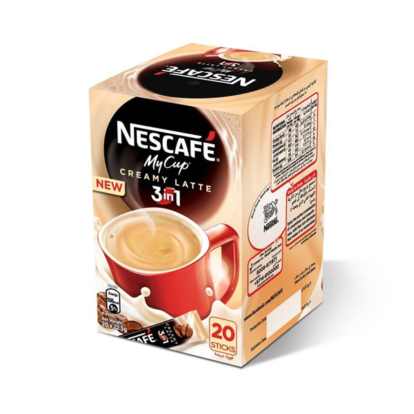Nescafe 3 in 1 Creamy Latte (pkt/20pcs)
