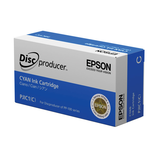 Epson PJIC1(C) Cyan Ink Cartridge for the PP-100 Discproducer Auto Printer